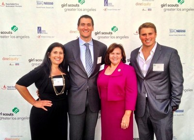 From left to right, Judy Gatena, CEO (REP Interactive), Steve Gatena, Founder, Brenda ZamZow, Client, Christopher Carter, CMO