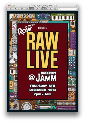 Raw Material Live at Brixton Jamm (PRNewsFoto/Raw Material)