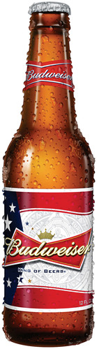 Budweiser's New Red, White and Blue Summer Bottle.  (PRNewsFoto/Anheuser-Busch)