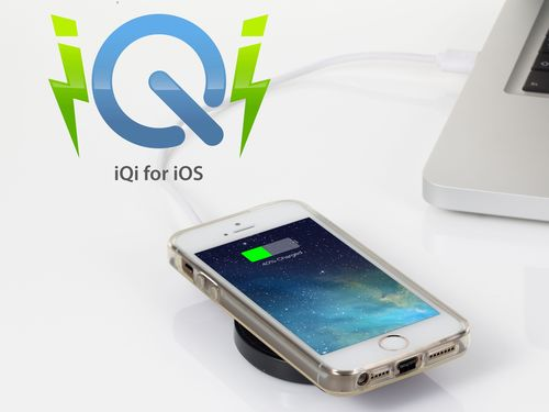 """""""No wires. No fuss. Just grab and go. iQi Mobile installed on Gold iPhone 5S with a crystal clear soft ..."""