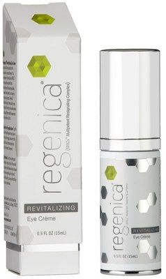 Regenica Revitalizing Eye Creme is the first and only eye creme formulated with Multipotent Resignaling Complex (MRCx) next generation growth factor technology