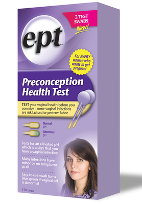Some vaginal infections have been linked to preterm labor, yet 50% of infections never show symptoms. The e.p.t(TM) Preconception Health Test measures vaginal acidity and indicates the presence of these infections so women can visit their doctor and seek treatment before trying to conceive. (PRNewsFoto/INSIGHT Pharmaceuticals, LLC)