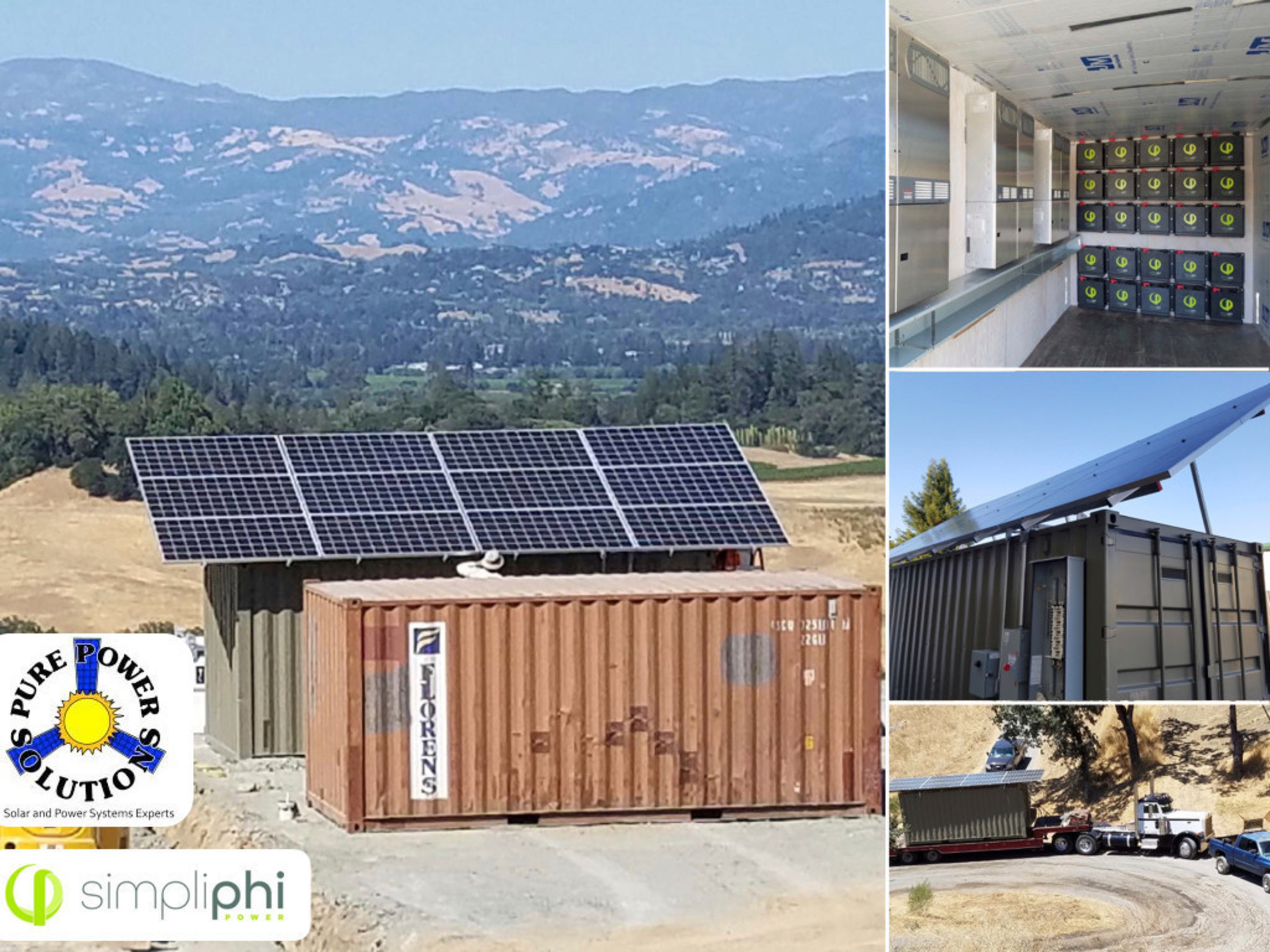 Using 85 kwh of SimpliPhi Power 3.4 batteries, Pure Power Solutions pre-built a 22 kW solar PV microgrid inside recycled shipping containers for 450-acre Vacherie Ranch, saving the family enterprise more than a million dollars over a grid extension.