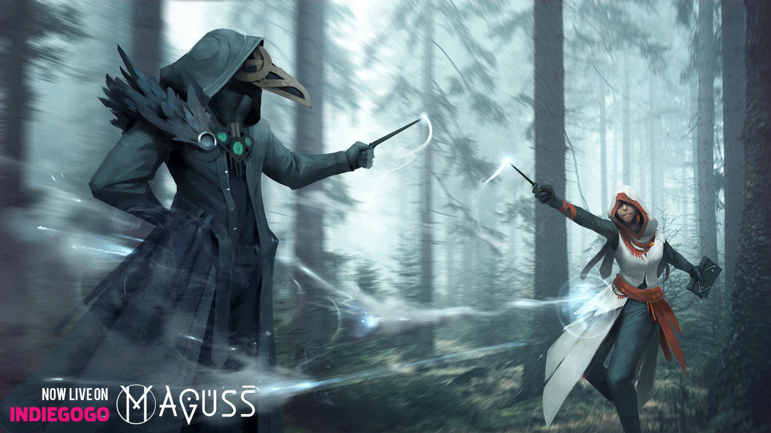 Maguss Keyart - AR wizarding mobile MMORPG battle