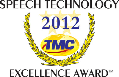Interactions Corporation Receives 2012 Speech Technology Excellence Award.  (PRNewsFoto/Interactions Corporation)