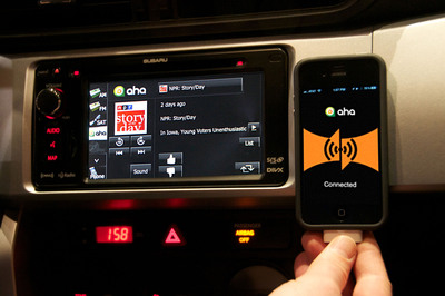 SUBARU SELECTS AHA TO DELIVER WEB CONTENT SAFELY TO DRIVERS THROUGH THE RADIO.  (PRNewsFoto/Subaru of America, Inc.)