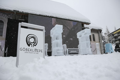 Gobeklitepe - The worlds' oldest monument has been recreated in ice as part of its official launch in Davos at the World Economic Forum (PRNewsFoto/Gobeklitepe) (PRNewsFoto/Gobeklitepe)