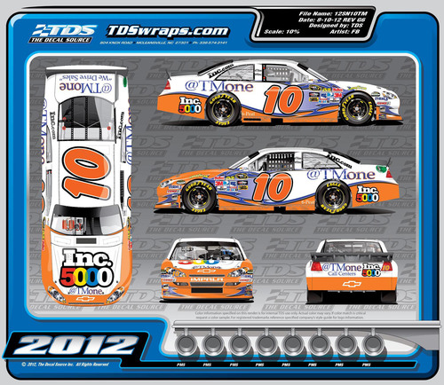 The No. 10 Inc. 5000 / @TMone 6-peat Chevrolet.  (PRNewsFoto/Tommy Baldwin Racing)