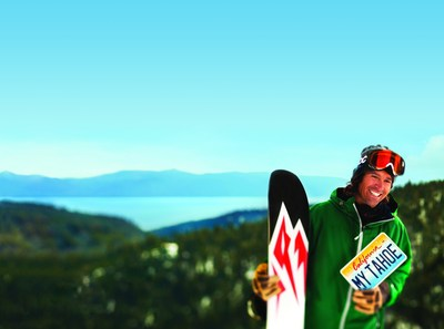 Big Mountain Skier, Jeremy Jones, helps protect Lake Tahoe with a Tahoe License Plate
