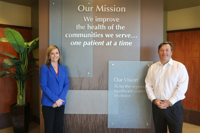 Deonne Henry, Patient Access Director (left) and Brian Craven, CFO and Senior Vice President of Finance (right) Magnolia Regional Health Center