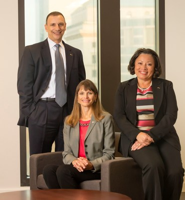 KeyBank's Human Resources and Diversity & Inclusion groups partner closely to create Key's diverse and inclusive environment.  Pictured (l-r):  Brian Fishel, Chief Talent Officer; Luci Workman, Recruiting Talent Manager; Poppie Parish, Head of Diversity and Inclusion.