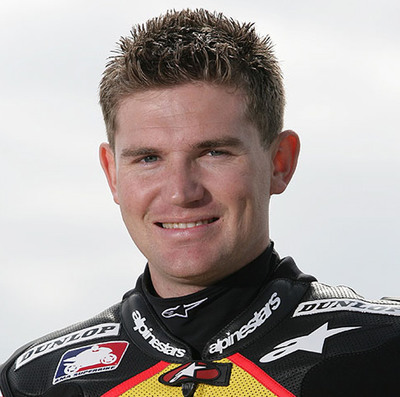 Aaron Gobert - former AMA superstock champion - will ride the Brammo Empulse RR.  (PRNewsFoto/Brammo, Inc.)
