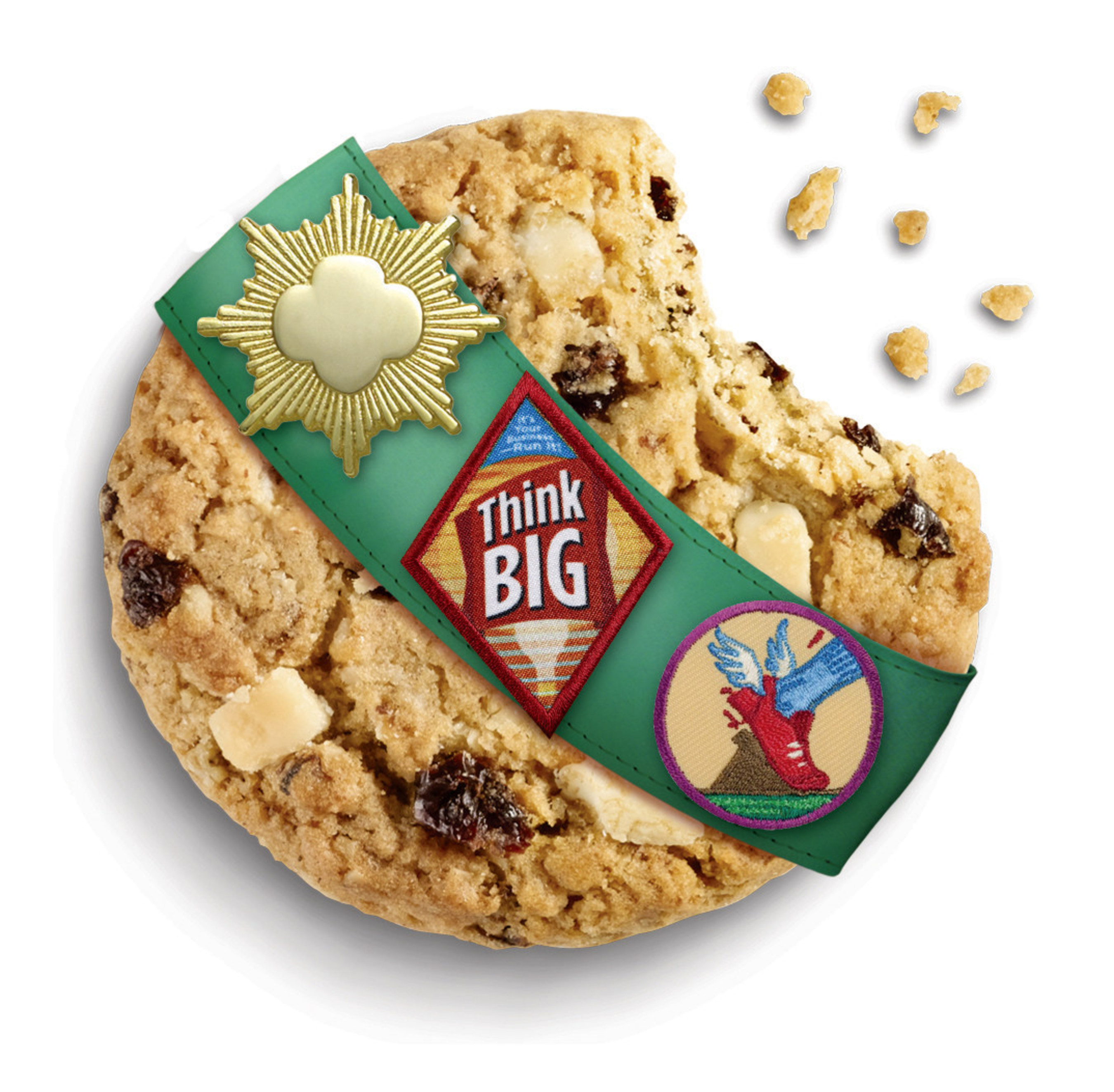 Rah-Rah Raisins are oatmeal raisin cookies with whole grain oats, plump, juicy raisins, and Greek yogurt-flavored chunks.