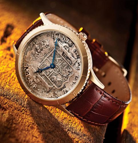 Stauer 1783 Silver Dollar Watch $295, available at www.stauer.com.  (PRNewsFoto/Stauer)