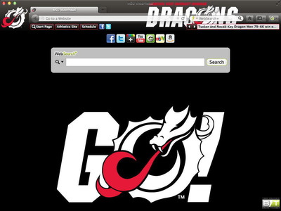 Browser theme of the Minnesota State University Moorhead Dragons.  (PRNewsFoto/Brand Thunder)