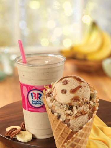 Baskin-Robbins Goes Bananas With New Flavor Of The Month, Bananas Foster Ice Cream. (PRNewsFoto/Baskin-Robbins)
