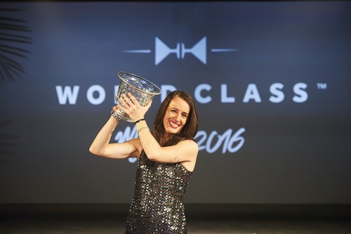 Jennifer Le Nechet is crowned World Class Bartender of the Year 2016 in Miami. (PRNewsFoto/WORLD CLASS)