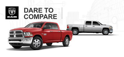 Ingram Park CDJ weighs in on the strengths of two heavy duty pickup trucks.  (PRNewsFoto/Ingram Park CDJ)