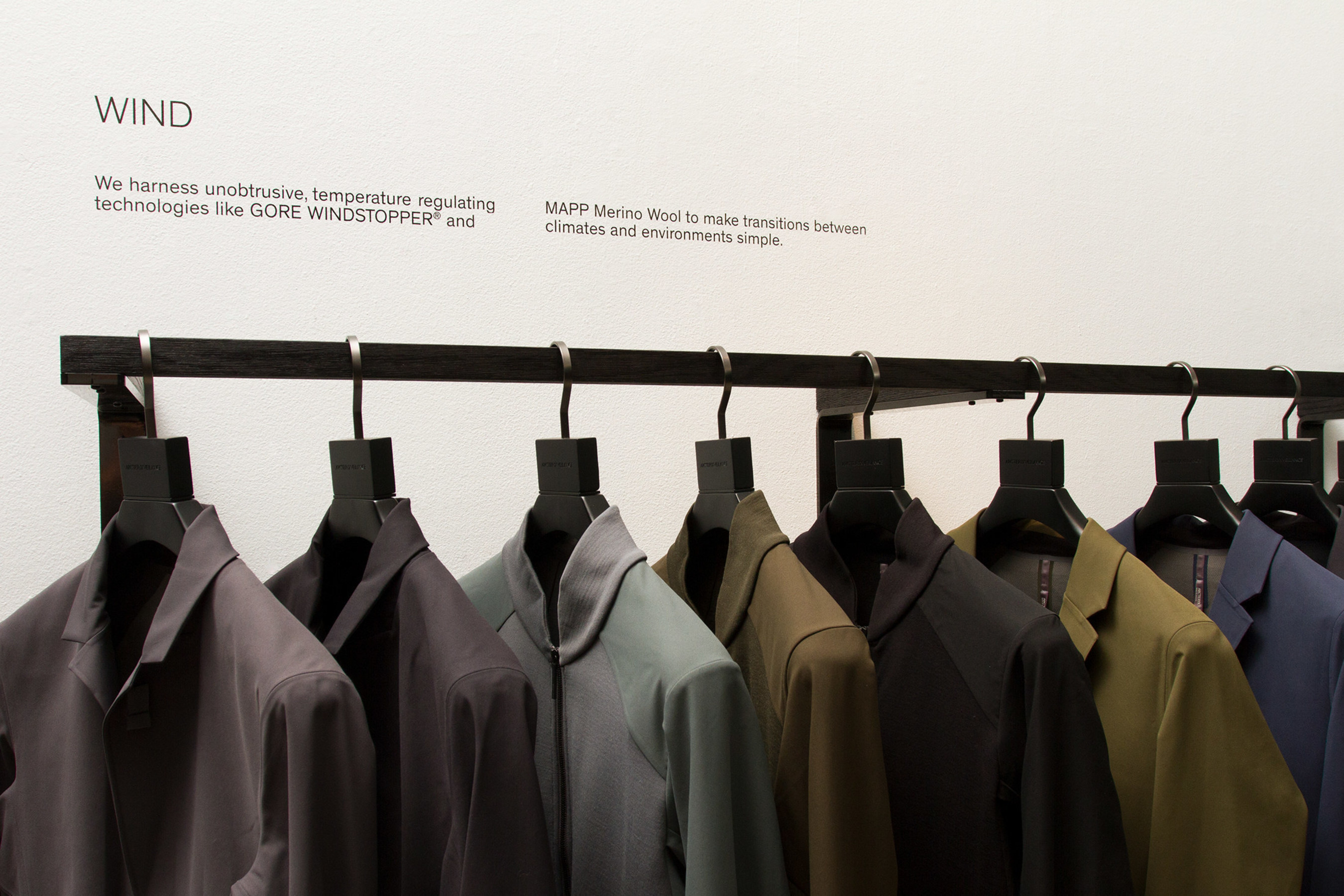Interior of the Arc'teryx Veilance concept store at 81 Greene Street; designed by Snarkitecture