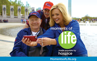 Live all the moments of your life with hospice. MomentsofLife.org (PRNewsFoto/National Hospice and ...)