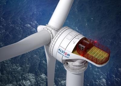Alstom's Haliade 150-6MW Offshore Wind Turbine (PRNewsFoto/Alstom)