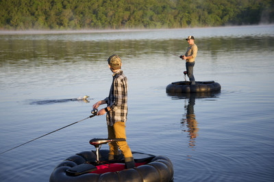 The GoBoat's stable design allows you to stand or sit while casting, trolling or just relaxing on the water.