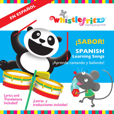 Cover image of the children's Spanish music CD Sabor released by Whistlefritz, the award-winning producers of the Spanish for Kids and French for Kids series of language immersion videos and music for children. La caratula del CD Sabor, la nueva coleccion de fantasticas canciones en espanol de Whistlefritz, productores de los galardonados CD de Cha, Cha, Cha y A Bailar. (PRNewsFoto/Whistlefritz)