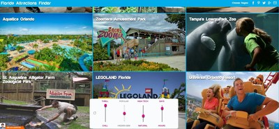 The Florida Attractions Finder is an interactive planning tool that allows travelers to explore attractions through video content based on  vacation preferences.