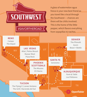 The Southwest is the land of the little pepper, which flavors everything from sopapillas to nachos.