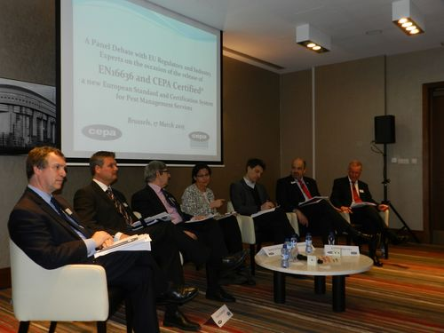 Panel members including CEPA President Bertrand Montmoreau (third from left) and BPCA President Martin Harvey ...