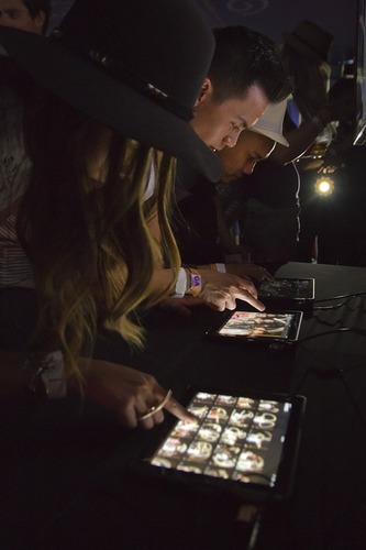 Absolut Little Sun transforms the Coachella experience with daily DJ sets, custom cocktails and a unique Sunlight Graffiti light-writing booth.  (PRNewsFoto/Pernod Ricard USA)