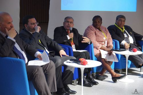 Government and Communications panel, #WCFDavos (PRNewsFoto/WCF)