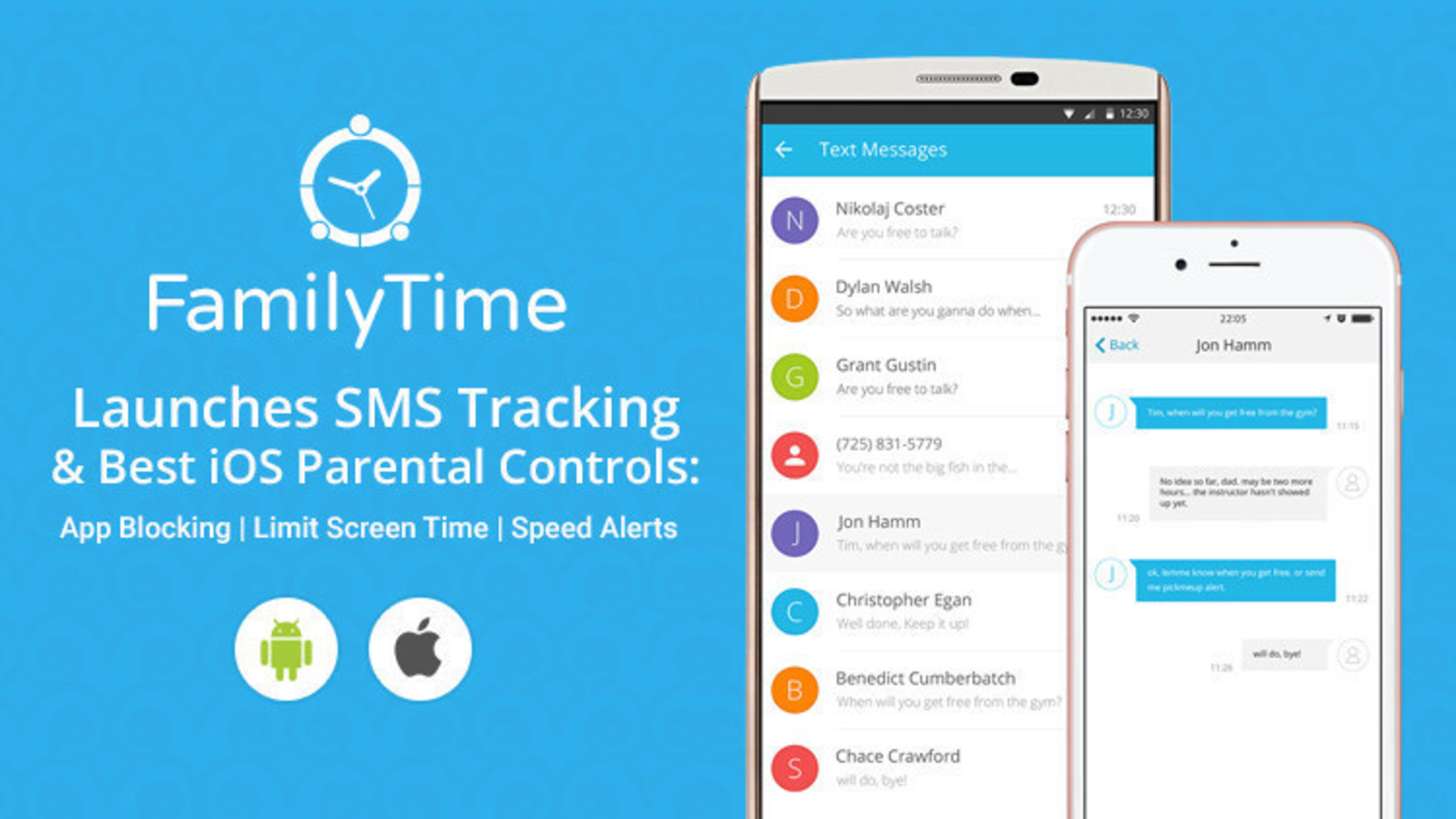 Leading Parental Control App Makers FamilyTime Launches SMS Tracking on Android and Offers Best iOS Parental Controls