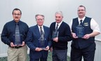 Million-mile safe drivers Luis Garcia, Carl Briggs, Al Kline, and Jerry VanDeusen Jr. were honored by Indian Trails bus company and the State of Michigan for collectively transporting 1.5 million passengers more than 5 million miles without an accident.