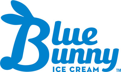 The Blue Bunny logo has evolved to be playfully bunny-like in shape.