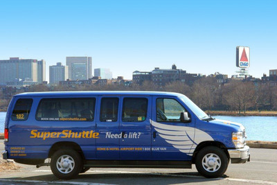 SuperShuttle opens at Boston Logan International Airport.  (PRNewsFoto/SuperShuttle International)