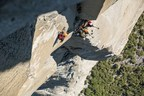 """Mammut Pro Team athlete Caro North (D), Whit Magro (US) and Tony Brown (US) climbed for the Mammut #project360 along the legendary route """"The Nose"""" on El Capitan in California's Yosemite National Park. They carried two camera backpacks, each weighing 8 kilograms, and documented the route in 360°-photographs and -films. (Credit: Mammut/Jason Thompson) (PRNewsFoto/Mammut Sports Group AG) (PRNewsFoto/Mammut Sports Group AG)"""