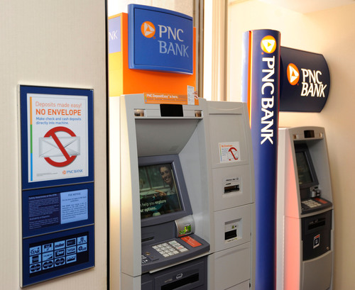 PNC customers make one of every four deposits via ATMs or mobile app.  (PRNewsFoto/PNC Bank)