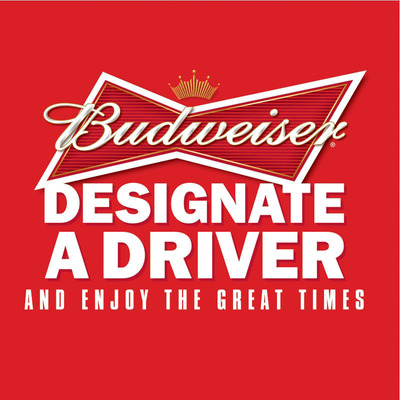 Budweiser Salutes Designated Drivers. Pledge at NationOfResponsibleDrinkers.com.  (PRNewsFoto/Anheuser-Busch)