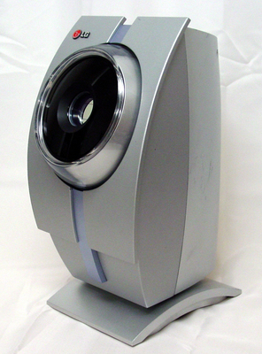 Table-top version of iris recognition scanner, as seen in the permanent collection of the Museum of Vision. Visit www.museumofvision.org to learn more.