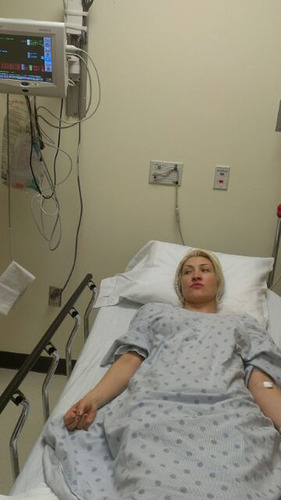 Pop Star Sasha Gradiva treated for dehydration and exhaustion at Saint Francis hospital in Memphis TN. The ...