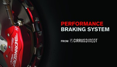 Cirrus Aircraft now offers a Performance Braking System as an aftermarket upgrade for Generation 3 aircraft. (PRNewsFoto/Cirrus Aircraft)