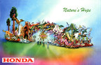 """Honda's """"Nature's Hope"""" Float to Lead 2016 Rose Parade(R), Celebrate Majestic Beauty of National Parks"""