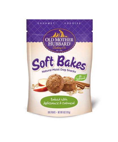 Old Mother Hubbard Gourmet Goodies Soft Bakes come in three flavors: Peanut Butter & Carob, Applesauce Oatmeal ...