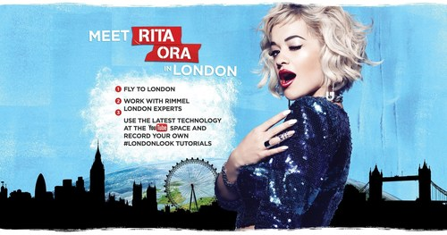 Rimmel London Launches The London Look International Contest With Rita Ora (PRNewsFoto/Rimmel) ...