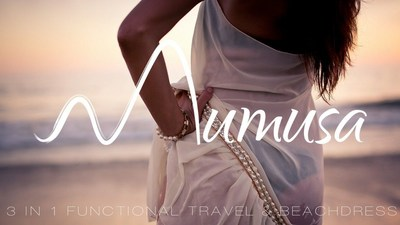 Functional Beach Dress for a Stress Free Holiday. The most beautiful 3 in 1 Holiday and beach dress. Must-have travel essential (PRNewsFoto/Mumusa)