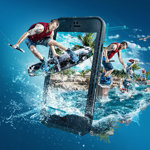 LifeProof fre provides waterproof protection for iPhone 6.