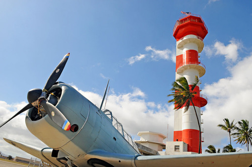 Ford Island Control Tower at Pacific Aviation Museum Pearl Harbor on Historic Ford Island.  (PRNewsFoto/Pacific Aviation Museum Pearl Harbor)