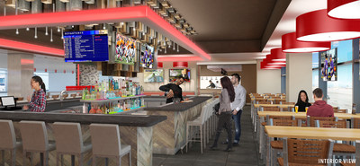 Smashburger Interior Rendering at DIA Concourse B