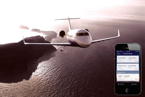 Cojetage lets commercial passengers fly private thanks to cheap prices and technology (PRNewsFoto/COJETAGE)